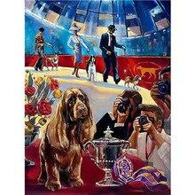 YIKEE 5d diy diamond painting dog 5d diamond embroidery animal Home Decor     y759 крем 5d