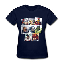Avengers Comic Fahsion Basic T Shirts For Women 2018 Popular Summer/Autumn Tops T Shirt Custom Girl T Shirt War 100% Cotton