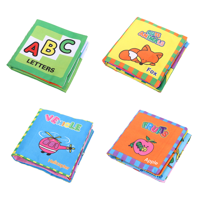 Soft Cloth Book Baby Kids BB Rustle Sound Books Children Educational