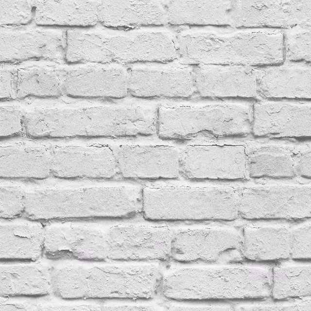 3d White Brick Effect Wallpaper