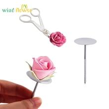 Wind flower 1 set Cake Scissors For Cream Flower Transfer Stainless Steel Piping Nail Rose Flower Maker Bottom Cake Scissors цена 2017