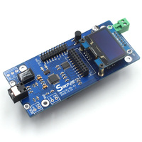 AK4118 Digital Receiver Board Audio Decoder DAC SPDIF to IIS Coaxial Optical USB AES EBU Input Support XMOS Amanero 1.3 OLED