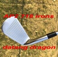 2018 Горячие гольф утюги 718 кованые datang Дракон AP2 Утюги (3 4 5 6 7 8 9 P) с динамическим золото S300 стальной вал 8 шт. Гольф клубы