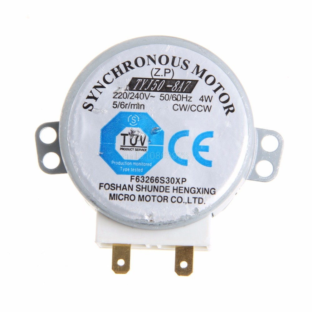 220-240V 4W Synchronous Motor for Air Blower TYJ50-8A7 Microwave Oven Tray Motor
