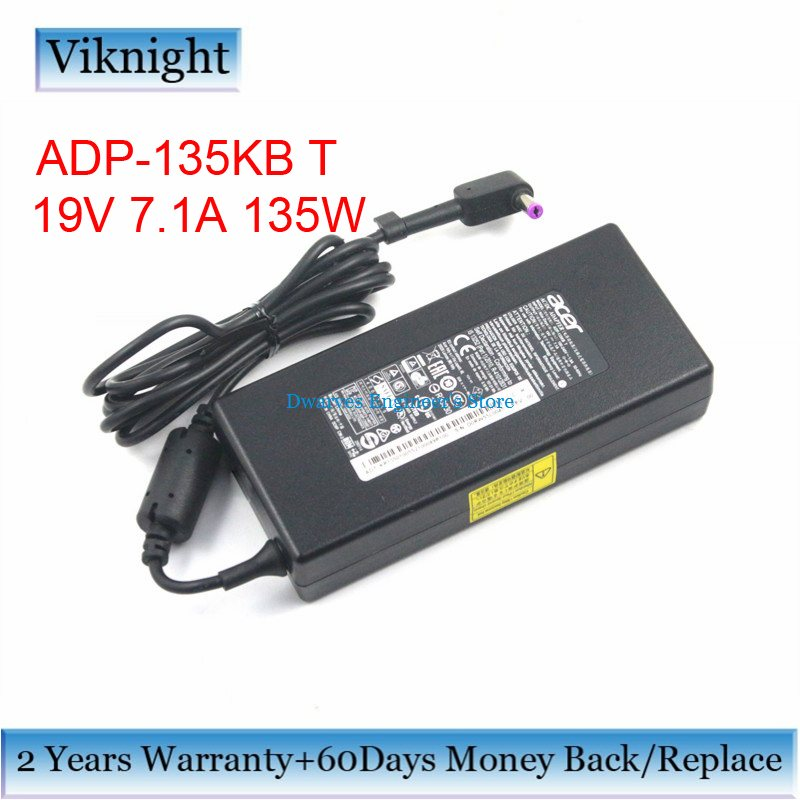 Original 19V7.1A 135W ADP-135KB T Power Supply AC Adapter for ACER ASPIRE VX15 VX5-591G VN7-792G-74H5 Laptop AC Adapters 19 5v 9 23a laptop charger adp 180mb f fa180pm111 ac power adapter for asus rog g750 g751 g750j g751j g750jm g751jm g750js