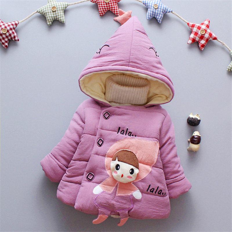 Bibicola Infant Baby Girls Winter Cute Hooded Coats Girls -3063