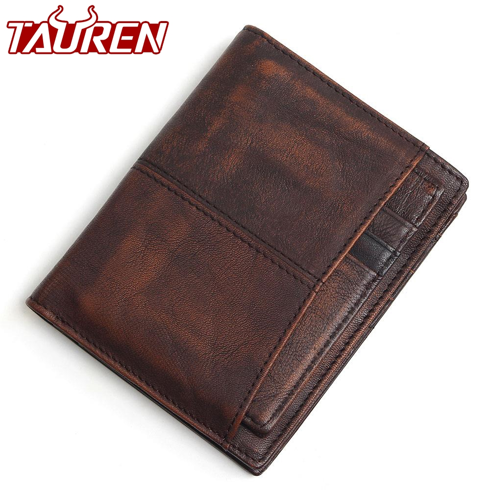 RFID Blocking 100% Cow Genuine Leather Men Wallets Luxury,Brush Color Short Style Male Purse,Carteira Masculina Original Brand ivotkova top quality cow genuine leather men wallets fashion splice purse dollar bag price carteira masculina free shipping gift