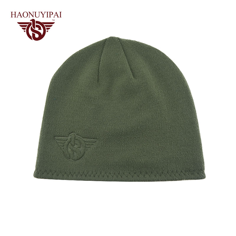 Autumn Winter Hats For Men Cotton Beanies Army Green Red Black Hat Cap  Knitted Adult Bonnet Caps Thick Warm Outdoor Sport Gorros 8802d0931e8