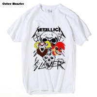 Metallica T Shirt Men Hard Metal Rock Band Slayer T Shirt 2017 Summer Short Sleeve Cotton