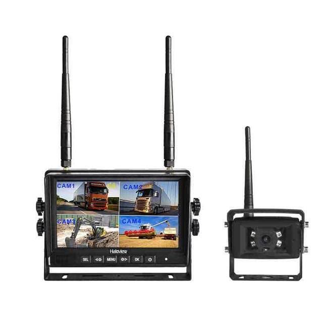 Haloview MC7101 Wireless Backup Camera System Kit 7'' LCD Reversing Monitor and IP69 Waterproof Rear View Camera Built in DVR
