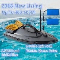 2018 новый пульт дистанционного Управление рыбы лодка Модель 2,4 г 5200 мАч 500 м быстрый Электрический RC ловли карпа доставки Лодка Bait добавить до