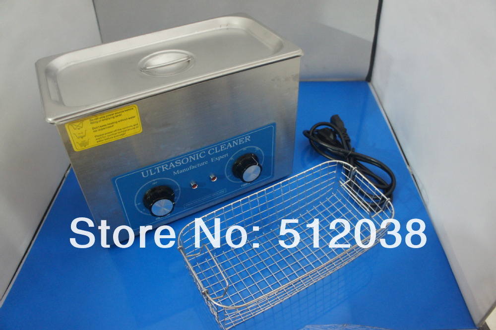 VGT-1840QT 4L Stainless Steel Mechanical Ultrasonic Cleaner Machine with Timer&heater for  jewelry,glasses,nozzles,watches .etc 4pc lot dr ms07 220v stainless steel dual 60w ultrasonic cleaner machine with display for jewelry glasses circuit board