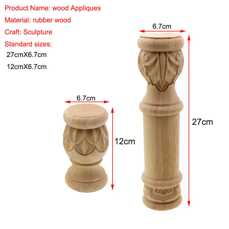 Furniture Legs Floral Wood Carved Decal Corner Appliques Frame Woodcarving Decorative Wooden Figurines Crafts Home Maison 8