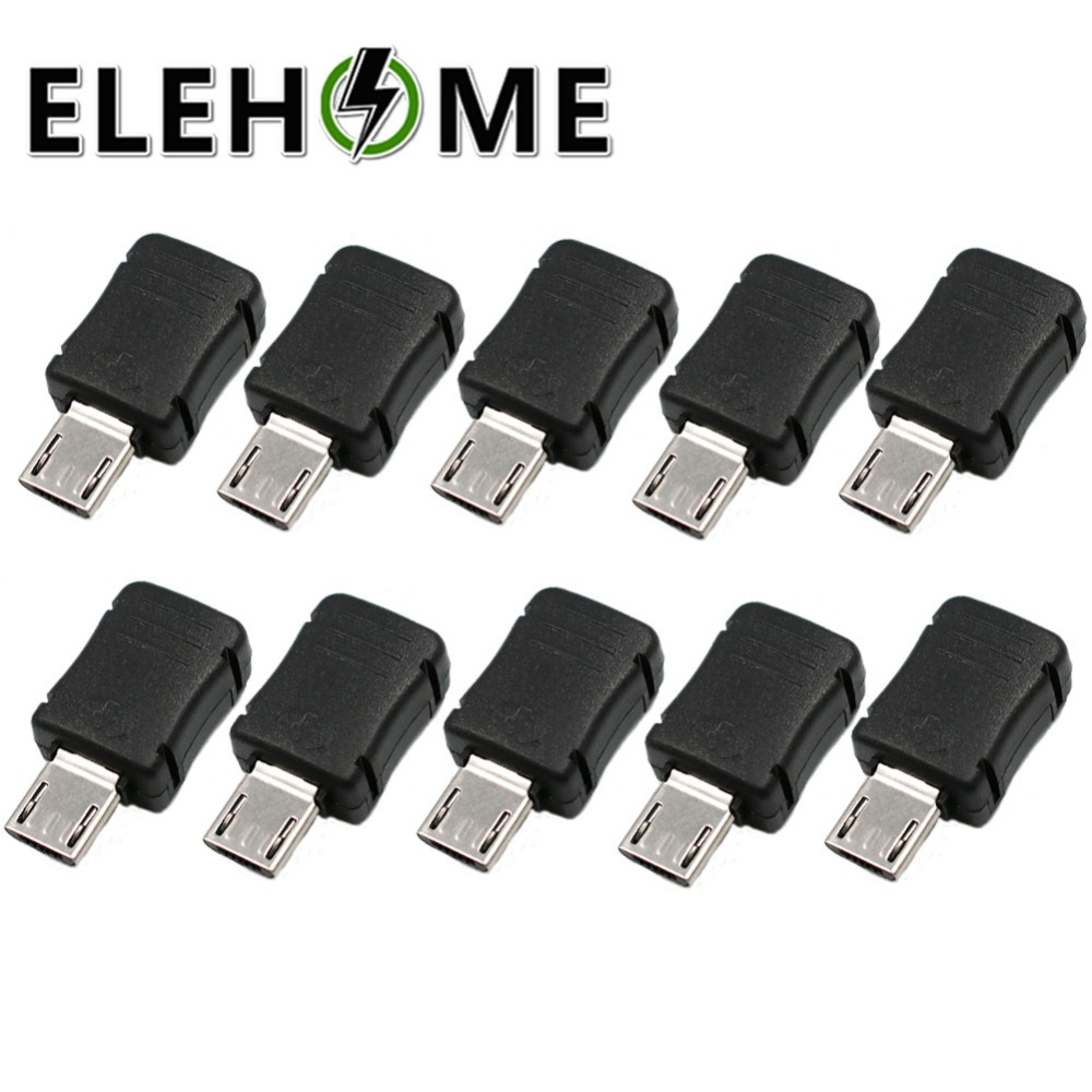 20X USB 2.0 4Pin A Type Male Plug SMT Connector Black SMD Data Transmission LE