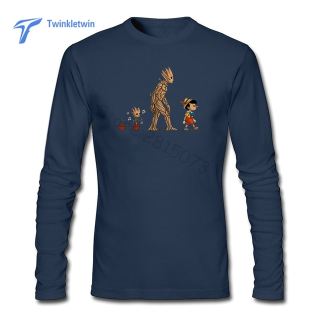 0a96dc12 New Fashion Cool Groot Evolution T-shirt Men Custom Groot T Shirt O Neck  Plus Size Tee Tops Man Pop Long Sleeves In Spring