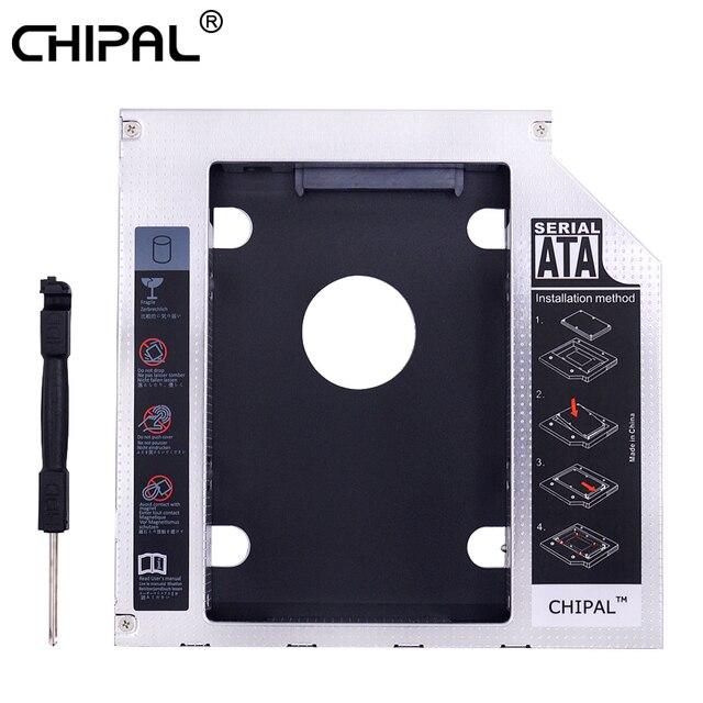 """CHIPAL Hợp Kim Magie 2nd HDD 12.7mm SATA 3.0 cho 2.5 """"SSD Ốp Lưng Cứng Ổ cho laptop CD DVD ROM Optibay"""