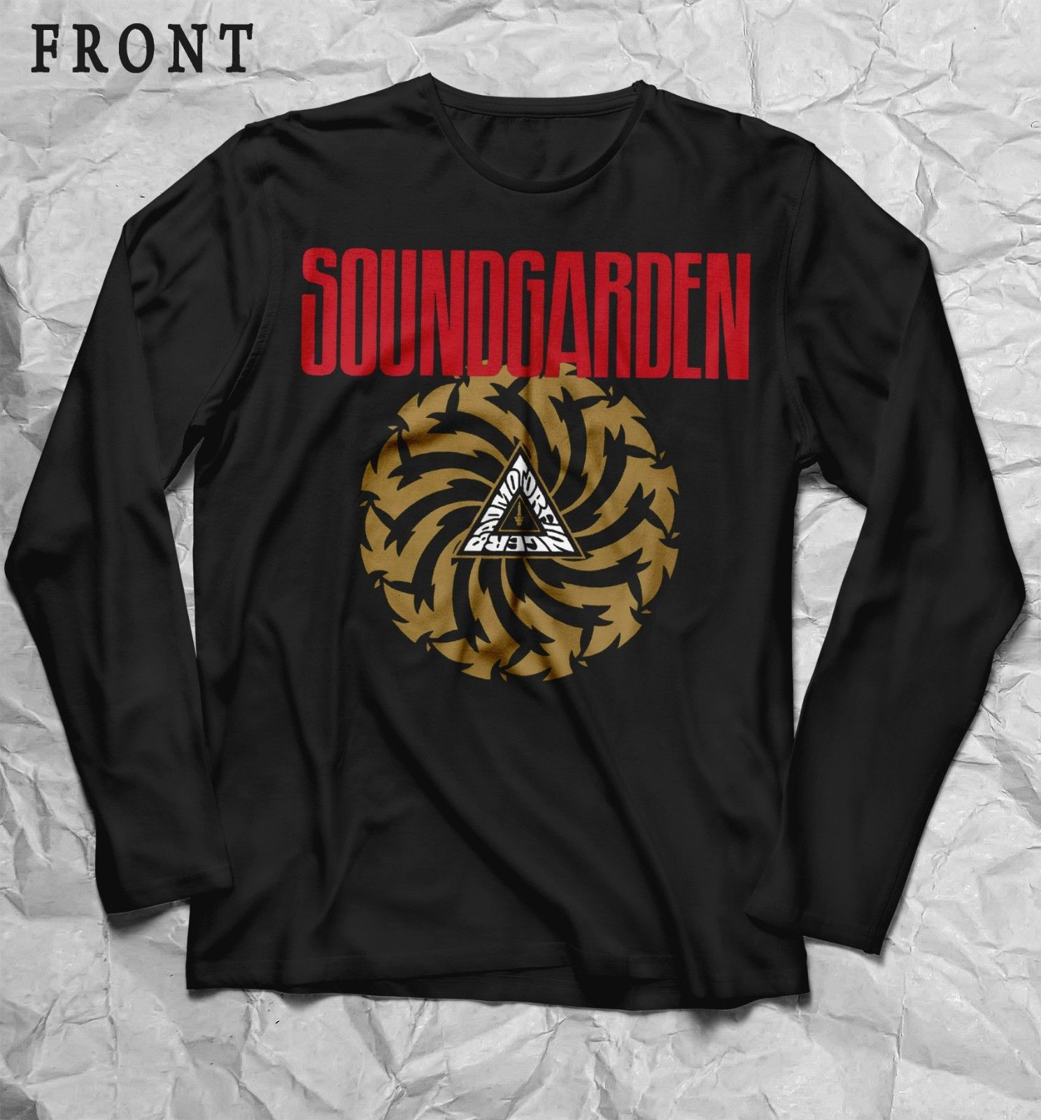 32dc7d9b SOUNDGARDEN-Badmotorfinger- Heavy metal,Black T-shirt long sleeve-sizes: