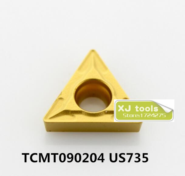 Free shipping 10pcs TCMT090204 US735 carbide inserts for STFCRSTUCR,Turning Blades for Stainless Steel