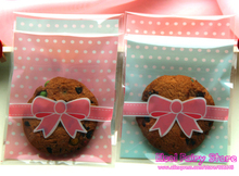 8x10cm Cute Bow-tie design Gift Food Plastic Bags Cute Small Biscuit Bag Party Favor Cellophane Bags(Hong Kong)