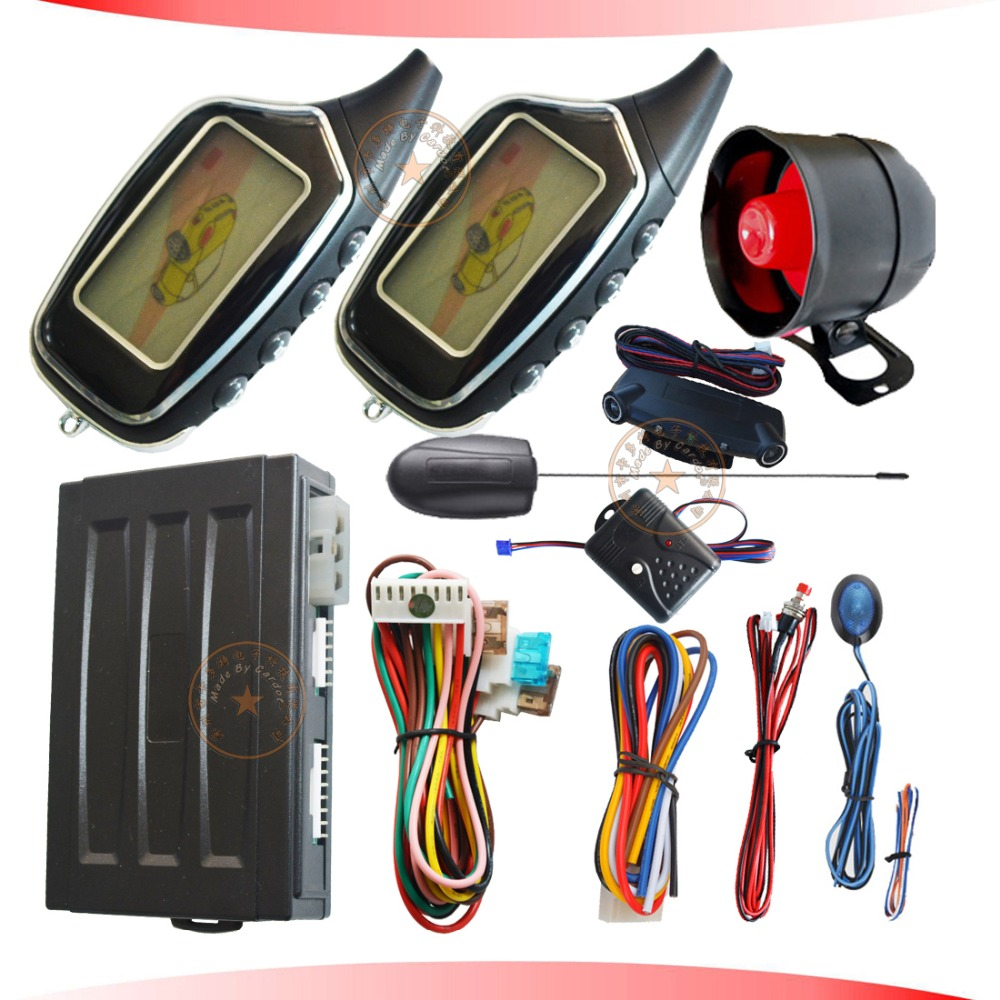 Système d'alarme automatique de voiture anti-détournement à distance de sécurité automatique avec alarme lcd télécommande capteur à ultrasons déclencheur d'alarme de mouvement