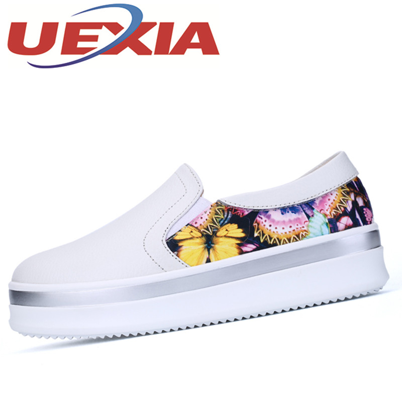 Women Casual Breathable Slip On Shoes Spring Fashion Outdoor Walking Sneakers Women White Flat Shoes Platform Loafers Mujers 2017 spring summer breathable shoes woman fashion flats shoes light slip on loafers outdoor casual walking weave shoes for women