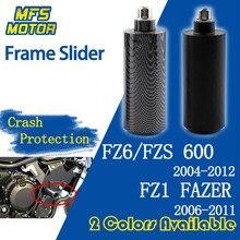 Frame Slider For Yamaha FAZER FZ6 FZS600 FZ6N FZ-6S FZ1 Falling Crash Pad Protection 2004 2005 2006 2007 2008 2009 2010 motorcycle accessories frame slider for yamaha fz6 fz6s 600 2004 2005 2006 2007 2008 2009 2010 2011 2012 black