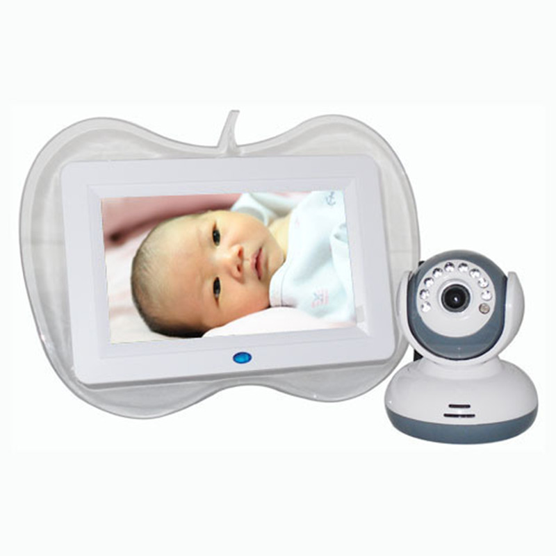 Good Mommy Helper 7 Inch Baby Monitor 2.4G ISM Infant Monitors Wireless Monitor Kit Support 32G SD Card 800x480 LCD Display