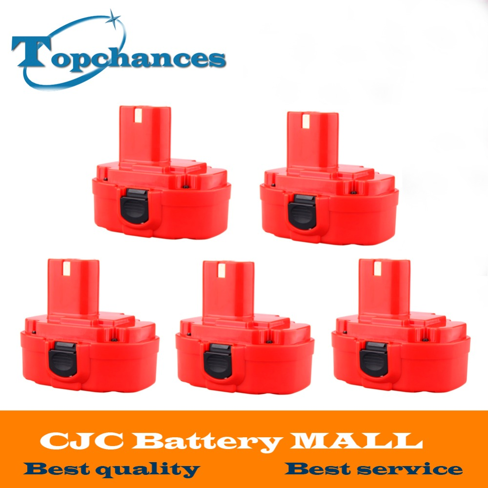 5PCS 12V PA12 2000mAh Ni CD Rechargeable Battery for Makita Replacement font b Power b font
