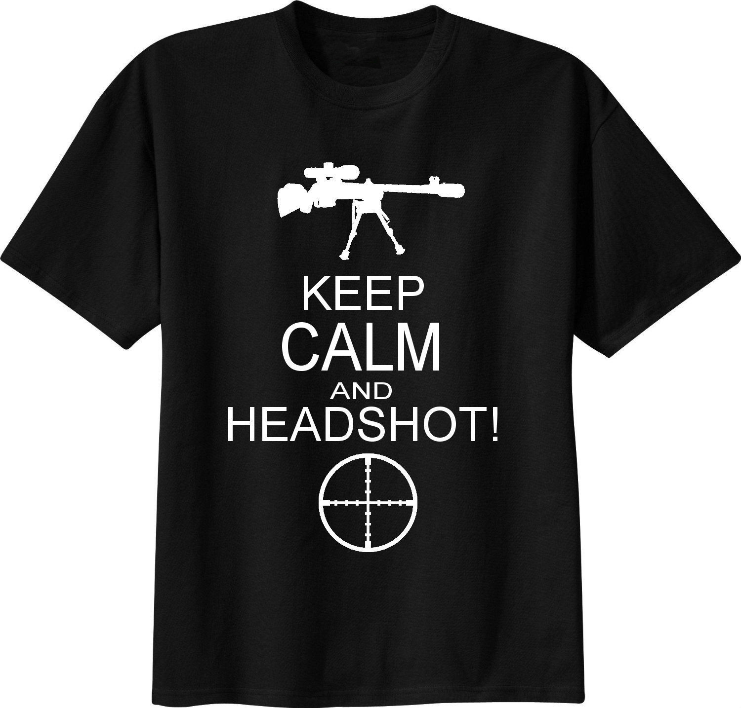 T-SHIRT cecchino sniper KEEP CALM HEADSHOT fps mmo image