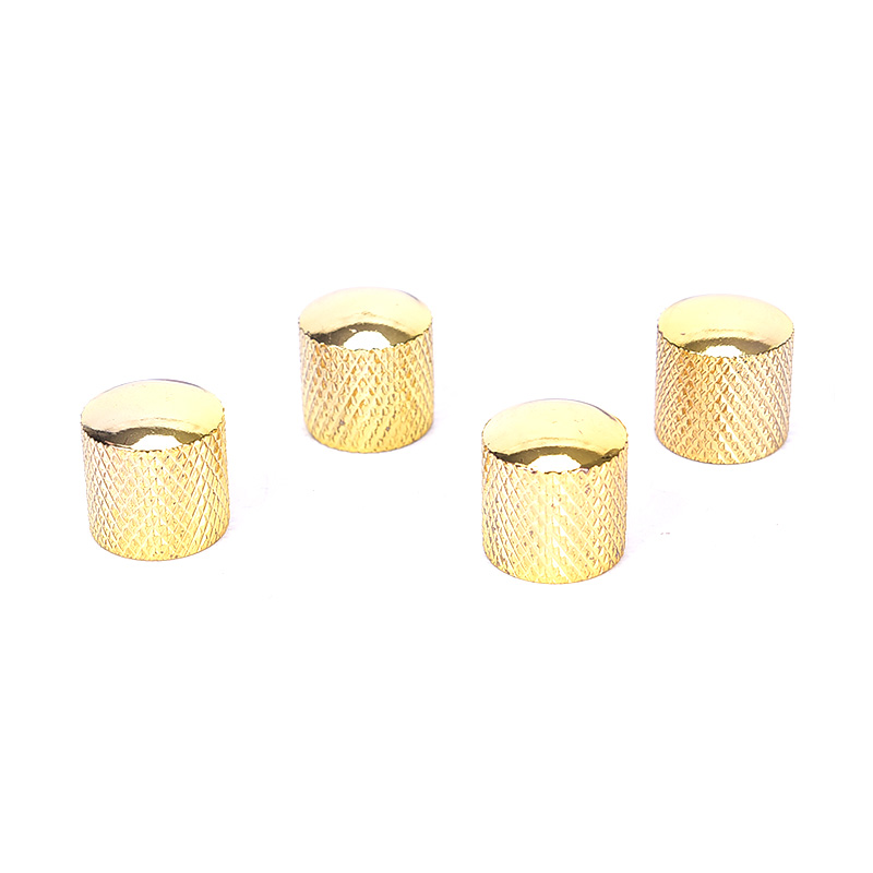Gold 4pcs Metal Guitar Bass Dome Tone Knobs For Electric Guitar/Bass Volume Control Knobs Guitar Parts & Accessories
