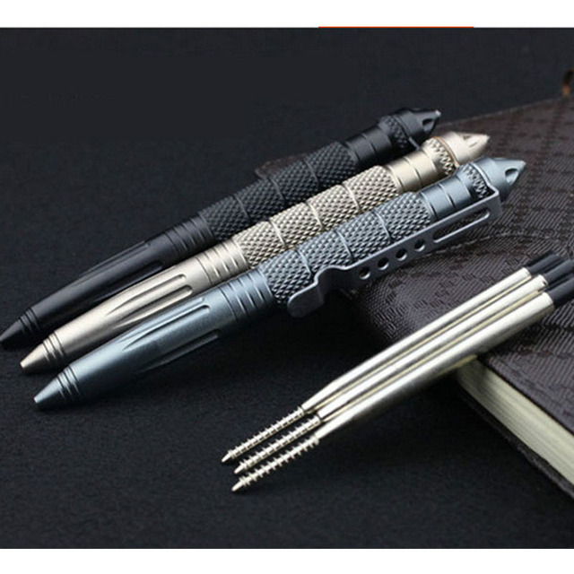 Camp & Survive EDC Aluminum Glass Breaker Self Defense Tactical Survival Pen Aluminum