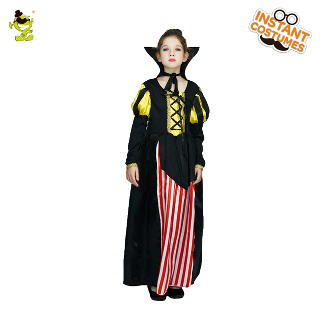 Girls Noble Princess Costume Medieval Deluxe Queen Cosplay Dress Carnival  Masquerade HalloweenParty Princess Role Play Clothing