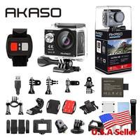 AKASO EK7000 4K WIFI Outdoor Action Camera Ultra HD Go Waterproof Cam Pro bike helmet Video Extreme Sports Moving Cameras Gift
