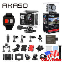 AKASO EK7000 4K WIFI Outdoor Action Camera Ultra HD Go Waterproof Cam Pro bike helmet Video Extreme Sports Moving Cameras Gift(China)