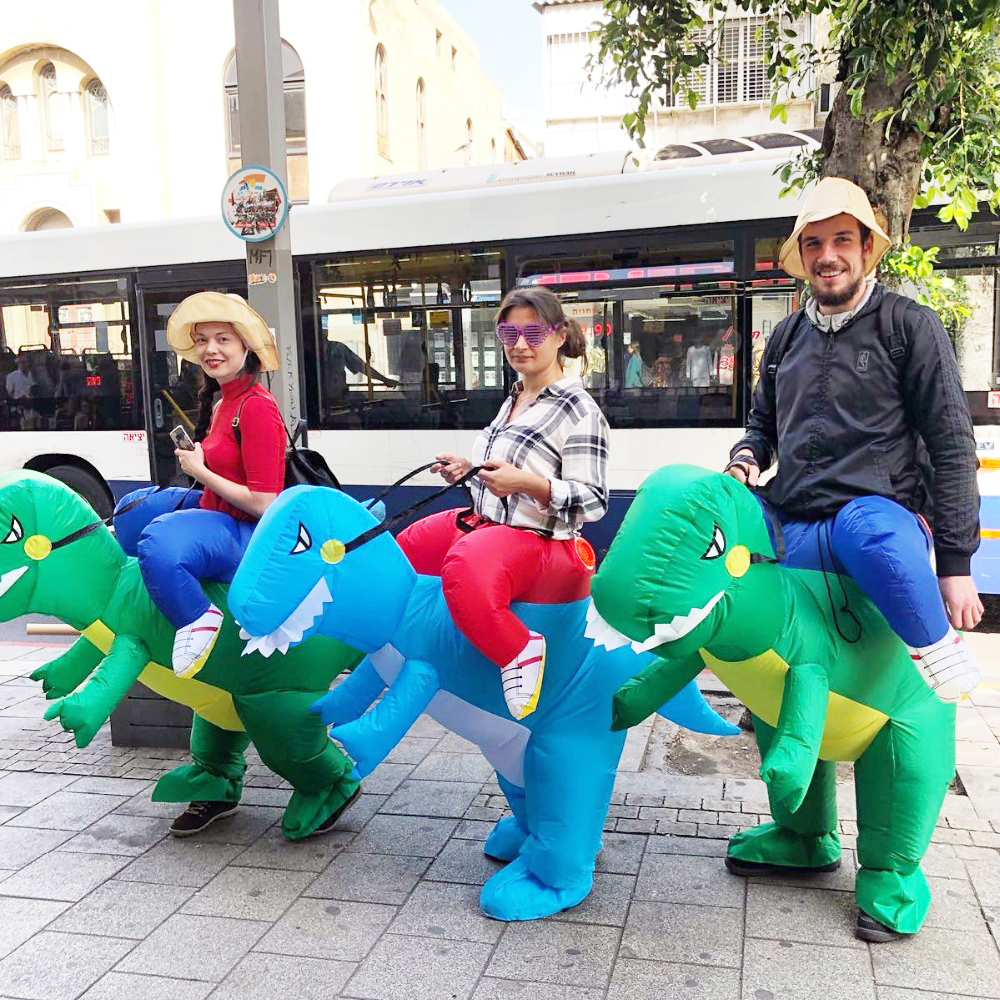 Adult Or Kids Inflatable Ride On Walking Dinosaur Animal Cosplay Costume Halloween Costumes For Women Man
