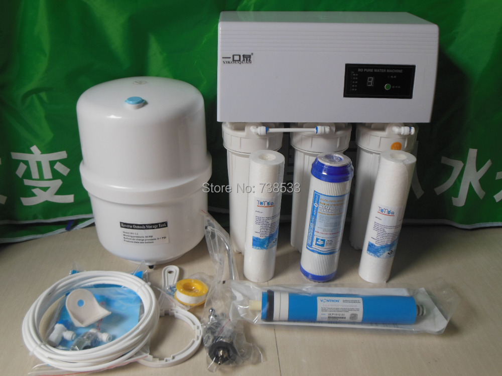 New 5 Stage 50G Reverse Osmosis Water Filters For Household Reverse Osmosis System Water Purifier RO