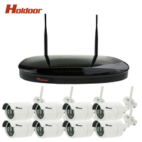New Plug And Play 8CH WIFI NVR CCTV Kit 720P HD Outdoor Indoor Waterproof IR Security