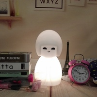 Japan Led Night Light Home Desk Lamp Decoration Solar Lustre Ornaments Crafts Gifts Cartoon Table Lamp Kokeshi Doll Led Light