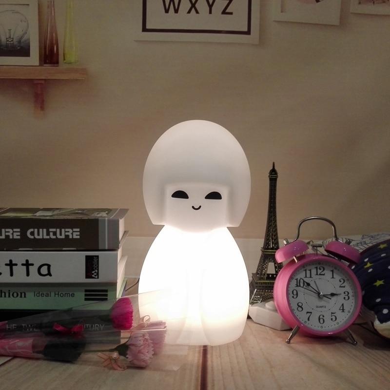 купить Japan Led Night Light Home Desk Lamp Decoration Solar Lustre Ornaments Crafts Gifts Cartoon Table Lamp Kokeshi Doll Led Light недорого