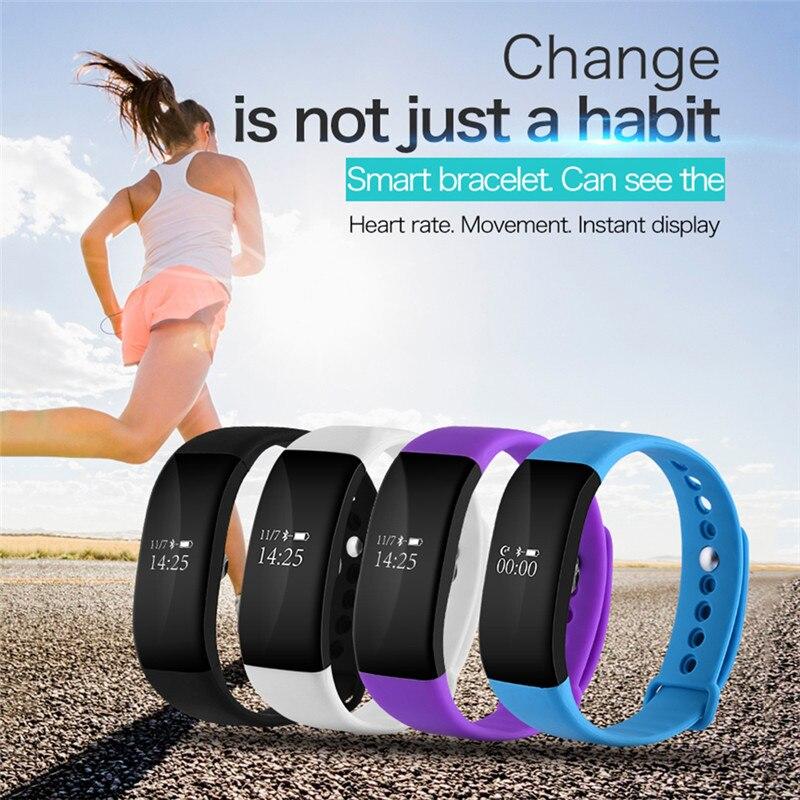 V66 Bluetooth Smart tracker Sleep fitness tracker Heart Rate Monitor IP68 Waterproof Smart Wristband Bracelet pk mi xiomi band 3