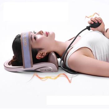 Szyi trakcji szyjki macicy postawy pompy wypełnione powietrzem kręgosłupa korekcji ciągnika relaksujący masażer kręgosłupa mięśni ulgę w bólu urządzenia tanie i dobre opinie MHKBD MHKBD-Rounie Neck traction device Neck Cervical vertebra Cervical correction relieve cervical fatigue Manual air pump