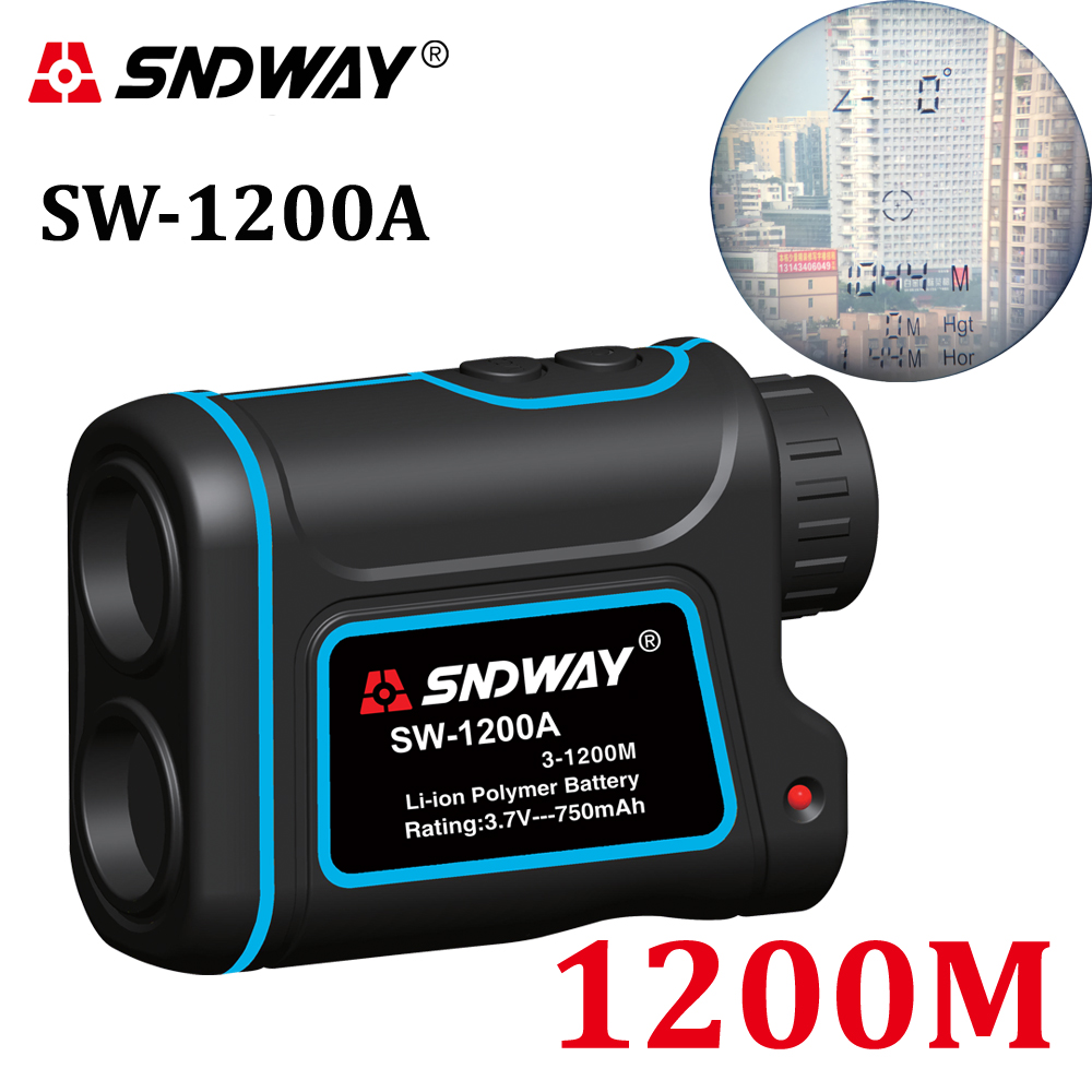 SNDWAY telescope laser distance meter range finder rangefinder hunting Golf monocular 1200m trena laser tape measure Diastimeter optics 700m laser rangefinder scope 6x25 binoculars hunting golf laser range finder outdoor distance meter measure telescope