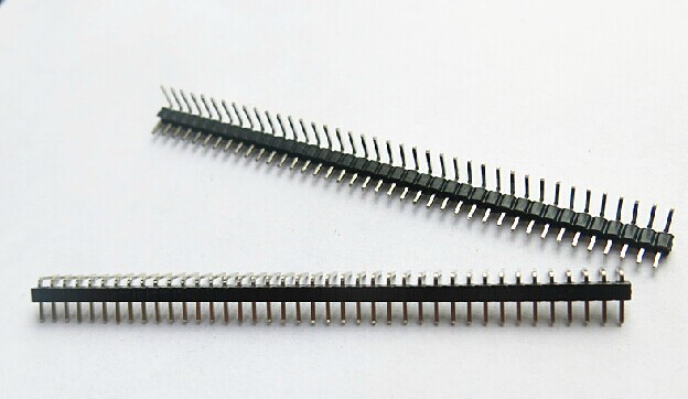 200pcs/lot  2.0mm 1x40 Single Row Male Copper RIGHT ANGLE  Pin Header Strip Good quality