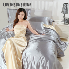 LOVINSUNSHINE Comforter Bedding Sets Silk Home Textile Duvet Cover Set Luxury AB#103