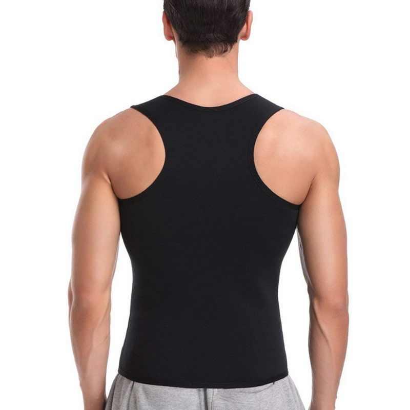 Litthing Moda Erkek Üstleri erkek Spor Tank Top 2019 Yaz moda spor kıyafeti Vücut Şekillendirici Zayıflama Tankı Gömlek S-2XL