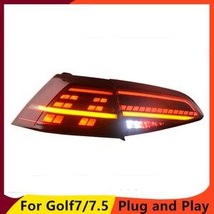 Image 4 - Car Styling dla VW Golf 7 Golf 7.5 Taillight 2013 2018 MK7 MK7.5 LED tylna lampa DRL + hamulec + Park + dynamiczny sygnał + światło cofania