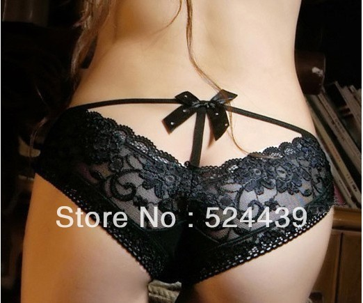 drop shipping New Pierced Butterfly lace sexy underwear princess sexy ladies panties butterfly tie with diamond lace temperament