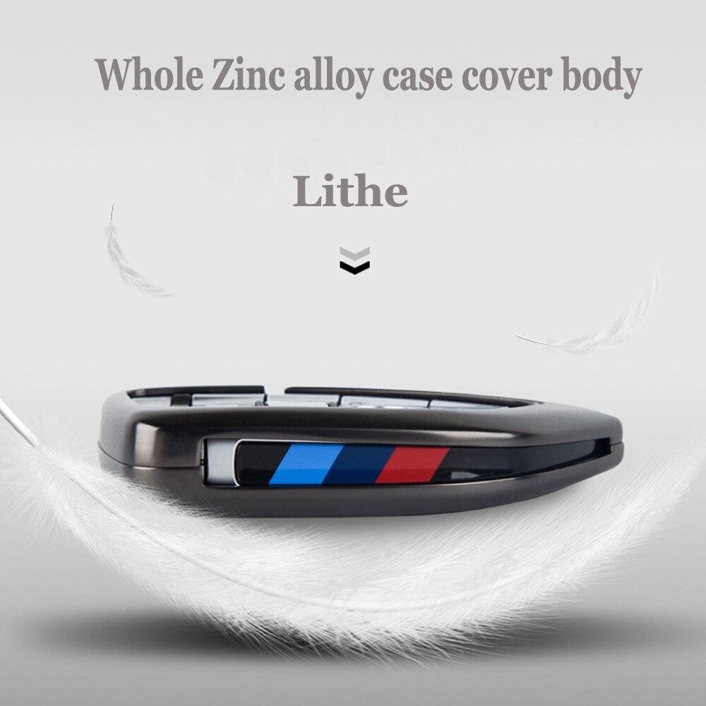 Duro liga de zinco novo Caso Capa de Couro Chave Do Carro Para BMW X1 X3 X4 X5 X6 F15 F16 F48 G30 g38 525 540 740 1 2 5 7 Série 218i