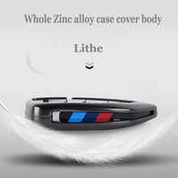 Hard zinc alloy new Car Key Case Leather Cover For BMW X1 X3 X4 X5 X6 F15 F16 F48 G30 G38 525 540 740 1 2 5 7 Series 218i