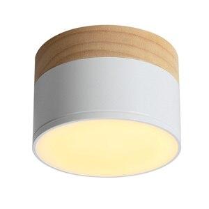 Image 5 - Aisilan HA CONDOTTO LA luce del punto del soffitto per la luce di soffitto lampade Apparecchi di Illuminazione a LED 5W da incasso faretto moderno in legno In Legno soggiorno luce